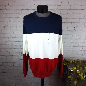 NWT Tommy Hilfiger colorblock crewneck sweater